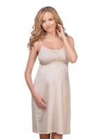 Купить Сорочка ночная для беременных и кормящих Мамин Дом Miky Way, цвет: молочный. 24129. Размер 48, Одежда для беременных