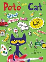 Купить Pete the Cat Giant Sticker Book, Книжки с наклейками