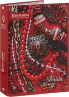 Купить Brauberg Тетрадь Роскошь 120 листов в клетку цвет красный, Тетради