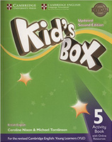 Купить Kid's Box Updated 2 Edition Activity Book 5 with Online Resource, Английский язык