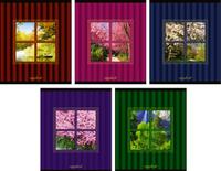 Купить КТС-Про Набор тетрадей Вид из окна 48 листов в клетку 5 шт, Тетради
