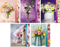 Купить КТС-Про Набор тетрадей Цветы 48 листов в клетку 5 шт, Тетради