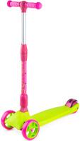 Купить Самокат Zycom Zinger Maxi XL , со складной ручкой, 3-колесный, со светящимися колесами, цвет: светло-зеленый, Самокаты