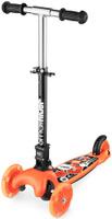 Купить Самокат Small Rider Randy Flash , со складной ручкой, 3-колесный, со светящимися колесами, цвет: оранжевый, Самокаты