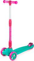 Купить Самокат Zycom Zinger Maxi XL , со складной ручкой, 3-колесный, со светящимися колесами, цвет: бирюзовый, Самокаты