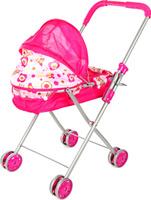 Купить Ami&Co Коляска-люлька для кукол цвет малиновый белый 58037, Amico, Куклы и аксессуары