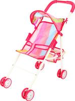 Купить Ami&Co Коляска для кукол цвет розовый голубой зеленый 58973, Amico, Куклы и аксессуары