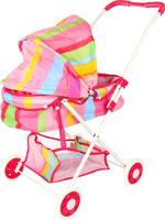 Купить Ami&Co Коляска-люлька для кукол цвет розовый голубой желтый 58977, Amico, Куклы и аксессуары