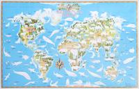 Купить Карта-раскраска. Обитатели Земли, Животные. Птицы. Растения