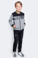 Купить Толстовка для мальчика PlayToday, цвет: серый, черный. 371110. Размер 128, Одежда для мальчиков