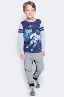 Купить Брюки спортивные для мальчика PlayToday, цвет: серый, черный. 371111. Размер 98, Одежда для мальчиков