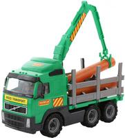 Купить Полесье Лесовоз Volvo цвет зеленый серый, Машинки