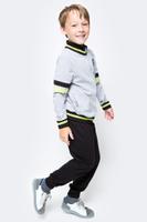 Купить Спортивный костюм для мальчика Cherubino, цвет: серый меланж, черный. CAJ 9657. Размер 134, Одежда для мальчиков