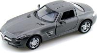 Купить Kinsmart Модель автомобиля Mercedes-Benz SLS AMG цвет серый, Машинки