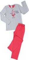 Купить Комплект домашний для девочки Vienetta's Secret Овечка: брюки, лонгслив, цвет: темно-серый. 403309 4434. Размер 140, 10 лет, Одежда для девочек