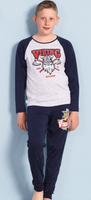 Купить Комплект домашний для мальчика Vienetta's Secret Viking: брюки, лонгслив, цвет: серый меланж. 703123 0000. Размер 134/140, 9-10 лет, Одежда для мальчиков