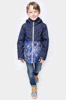 Купить Куртка для мальчика Huppa Trevor, цвет: синий, темно-синий. 17660004-70186. Размер 128, Одежда для мальчиков