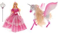 Купить S+S Toys Игровой набор с куклой Magic Pegasus цвет розовый, Куклы и аксессуары