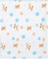Купить Чудесные одежки Пеленка текстильная Собачка цвет белый бежевый голубой 120 х 90 см, Подгузники и пеленки