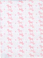 Купить Чудесные одежки Пеленка текстильная Собачка цвет белый розовый 120 х 90 см, Подгузники и пеленки