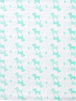 Купить Чудесные одежки Пеленка текстильная Собачка цвет белый салатовый 120 х 90 см, Подгузники и пеленки