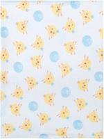 Купить Чудесные одежки Пеленка текстильная Цыпленок цвет белый желтый голубой 120 х 90 см, Подгузники и пеленки