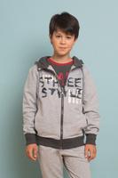 Купить Толстовка для мальчика Luminoso, цвет: серый. 737030. Размер 134, Одежда для мальчиков
