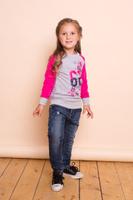 Купить Джинсы для девочки Sweet Berry, цвет: темно-синий. 734081. Размер 116, Одежда для девочек