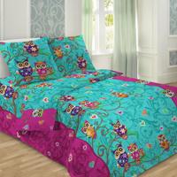 Купить Комплект детского постельного белья Letto Сова , 1, 5 спальный, наволочка 50 x 70 см, цвет: желтый, Letto Home Textile, Постельное белье