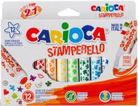 Купить Набор для рисования Carioca (Кариока) Stamp Markers , 12 цветов, Universal