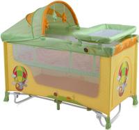Купить Lorelli Манеж-кроватка Nanny 2 Plus Rocker цвет желтый салатовый, Манежи