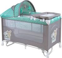 Купить Lorelli Манеж-кроватка Nanny 2 Plus Rocker цвет серый зеленый, Манежи