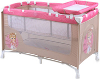 Купить Lorelli Манеж-кроватка Nanny 2 цвет бежевый розовый, Манежи