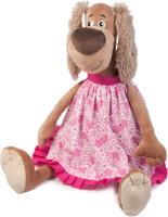 Купить Maxitoys Luxury Мягкая игрушка Собачка Зиночка в платье 35 см, Мягкие игрушки