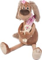 Купить Maxitoys Luxury Мягкая игрушка Собачка Зиночка с зайкой 35 см, Мягкие игрушки