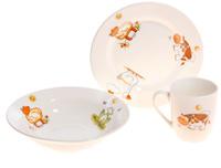 Купить Кубаньфарфор Набор посуды для кормления Зоопарк 3 предмета, Посуда для самых маленьких