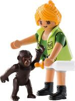 Купить Playmobil Игровой набор Смотритель зоопарка с детенышем гориллы, Игровые наборы