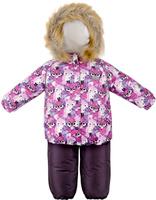 Купить Комплект для девочки Reike Умная Лиса: куртка, полукомбинезон, цвет: фуксия. 39550105_SF fuchsia. Размер 80, Одежда для девочек