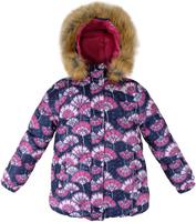 Купить Куртка для девочки Reike Японские цветы, цвет: темно-синий. 39669220_JFL navy. Размер 128, Одежда для девочек