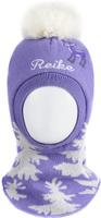 Купить Шапка-шлем для девочки Reike Олененок, цвет: фиолетовый. RKN1718-2_DR purple. Размер 46, Одежда для девочек