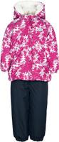 Купить Комплект для девочки Reike Олененок: куртка, полукомбинезон, цвет: красный. 393207_DR berry. Размер 80, Одежда для новорожденных