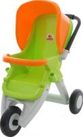 Купить Полесье Коляска для кукол прогулочная трехколесная цвет зеленый оранжевый, Куклы и аксессуары