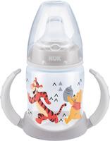 Купить NUK Бутылочка-поильник First Choice с силиконовым носиком от 6 до 18 месяцев серый белый 150 мл, Поильники