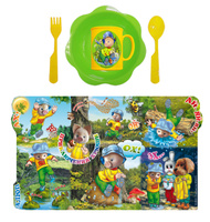 Купить Набор детской посуды Хрюша и стрекоза 5 предметов Н5СП3, АртХаус, Посуда для самых маленьких
