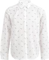 Купить Блузка для девочки Button Blue, цвет: белый. 217BBGC22010207. Размер 116, 6 лет, Одежда для девочек