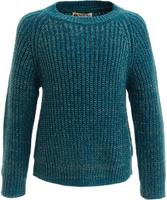 Купить Джемпер для девочки Button Blue, цвет: темно-бирюзовый. 217BBGC35020700. Размер 116, 6 лет, Одежда для девочек