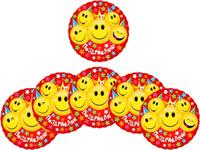 Купить Страна Карнавалия Подставка для стакана Поздравляю! смайлы со звездами 10 х 10 см 6 шт 1029366, Сервировка праздничного стола