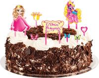 Купить Страна Карнавалия Набор для украшения торта С днем рожденияпринцесса 1283136, Украшения для интерьера