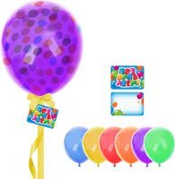 Купить Страна Карнавалия Шары воздушные с пожеланиями Поздравляем! Кружочки 8 шт, Воздушные шарики