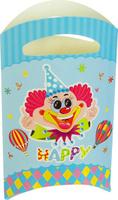 Купить Страна Карнавалия Пакет подарочный Клоун голубой цвет 14 x 24 см 6 шт 1652841, Подарочная упаковка